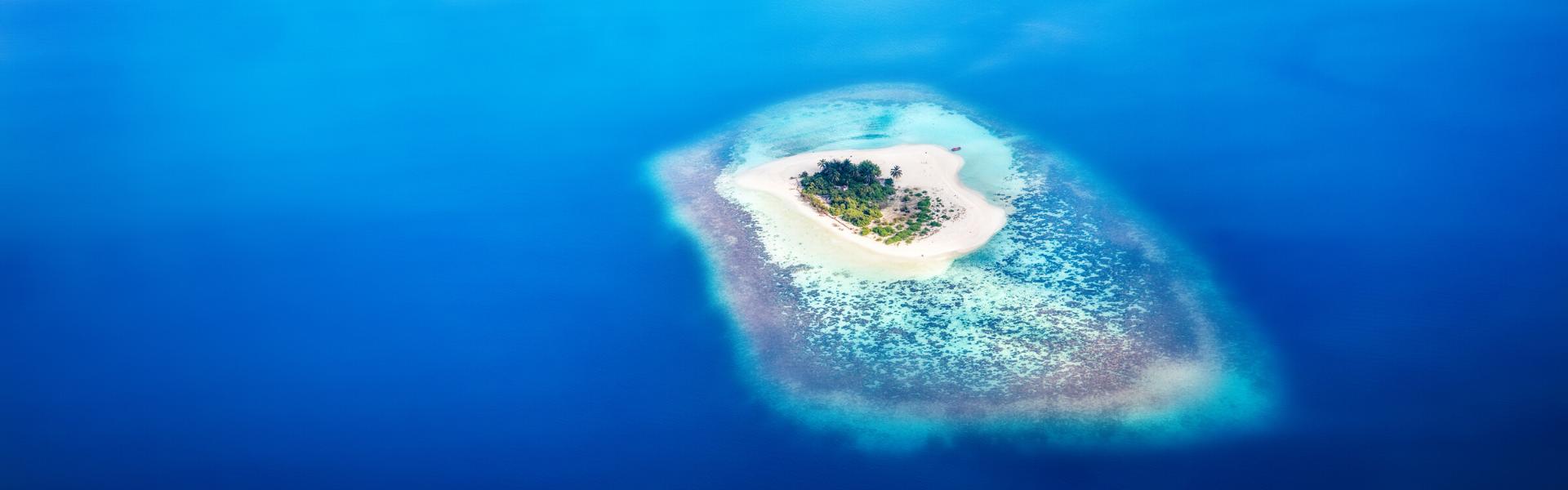 Isla en Maldivas