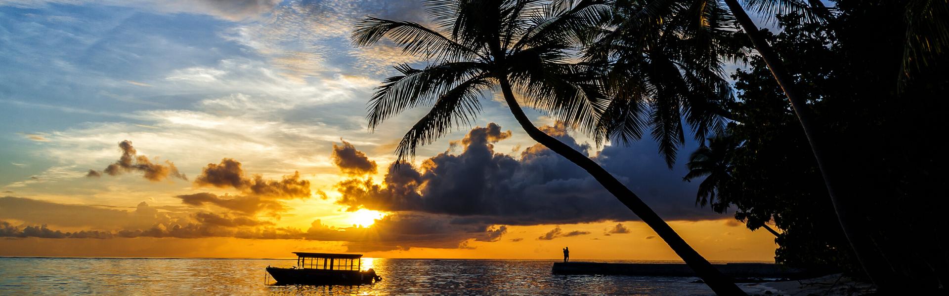 Puesta de sol Maldivas