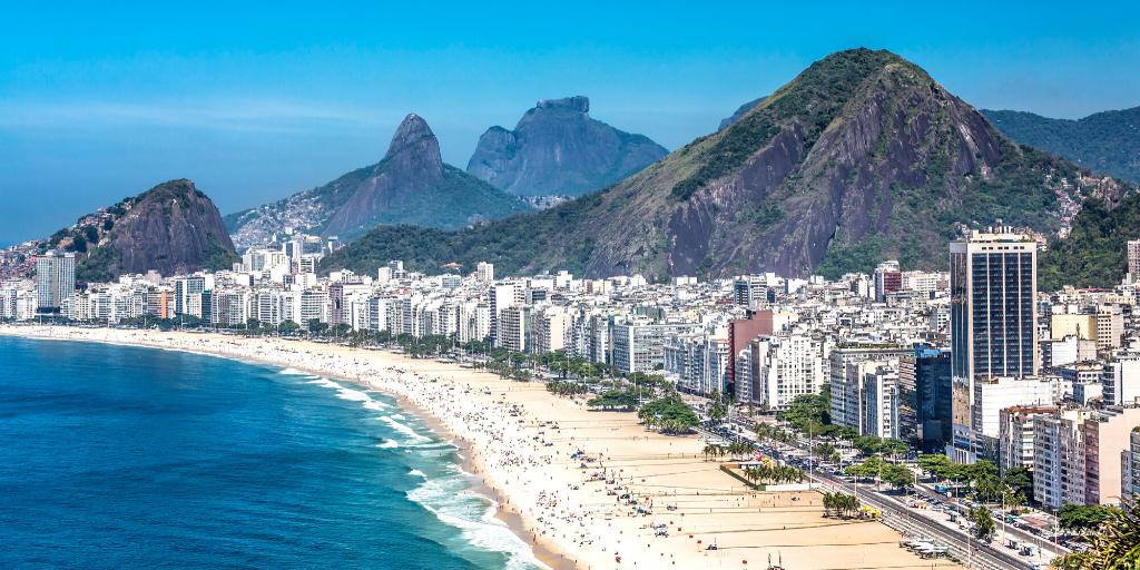 Playa de Copacabana en Brasil